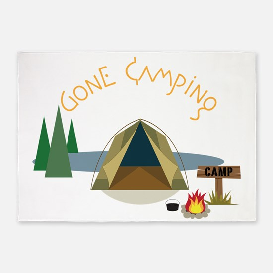Gone Camping 5'x7'Area Rug