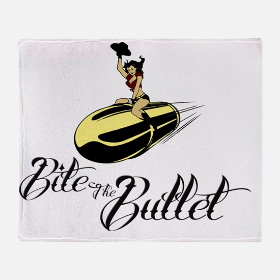 Bite the Bullet - Cowgirl Throw Blanket