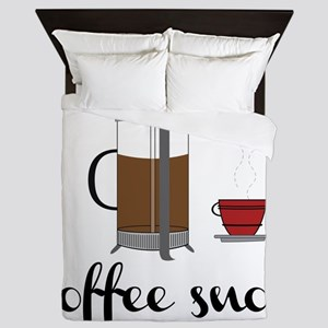 Coffee Snob Queen Duvet