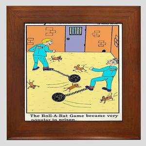 PRISON GAME ROLL-A-RAT Framed Tile