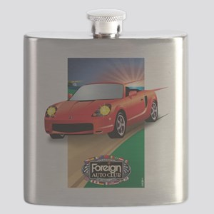 Foreign Auto Club - Japanese Framed 2 Flask