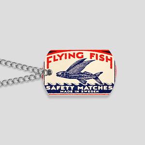Antique Flying Fish Swedish Matchbox Labe Dog Tags