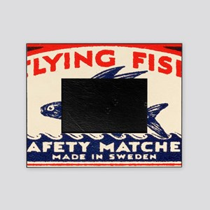 Antique Flying Fish Swedish Matchbox Picture Frame