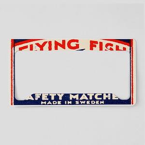 Antique Flying Fish Swedish M License Plate Holder
