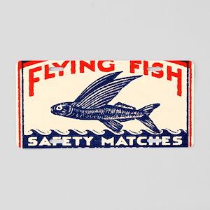 Antique Flying Fish Swedish Aluminum License Plate