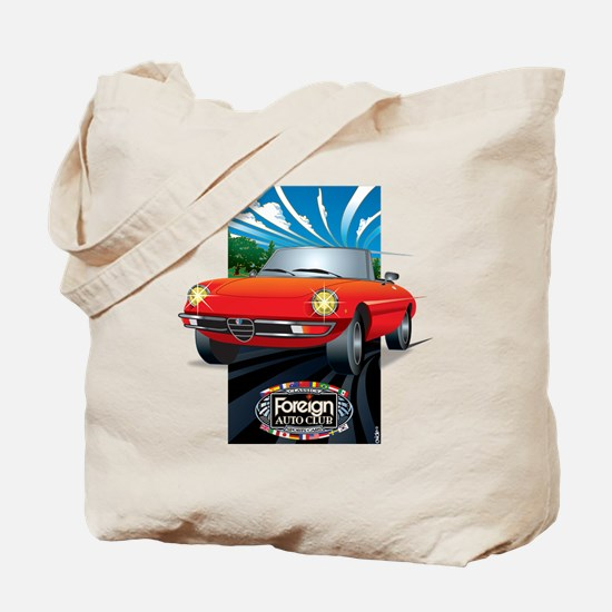 Foreign Auto Club - Framed Italian 3 Tote Bag