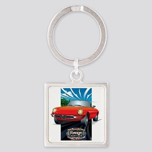 Foreign Auto Club - Framed Italian Square Keychain