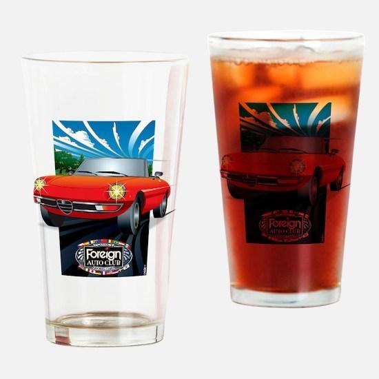 Foreign Auto Club - Framed Italian  Drinking Glass