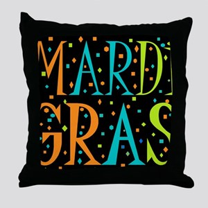MARDI GRASD Throw Pillow