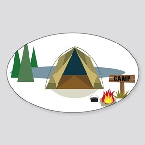 Camping Sticker (Oval)
