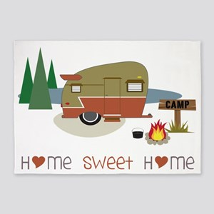 Home Sweet Home 5'x7'Area Rug