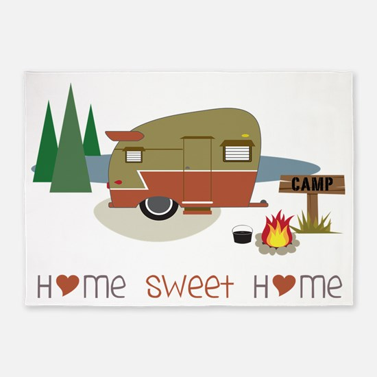 Home Sweet Home 5'x7'Area Rug