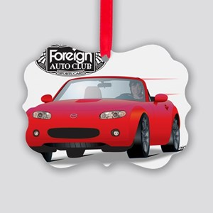 Foreign Auto Club - Red Japanese  Picture Ornament