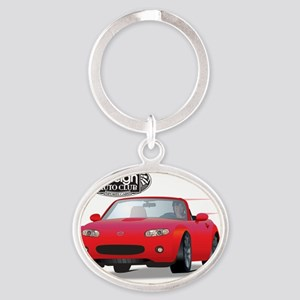 Foreign Auto Club - Red Japanese 1 Oval Keychain