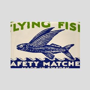Antique Flying Fish Swedish Match Rectangle Magnet