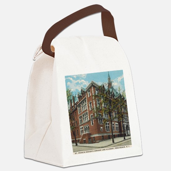 Vintage St X Postcard Canvas Lunch Bag