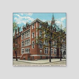 "Vintage St X Postcard Square Sticker 3"" x 3"""