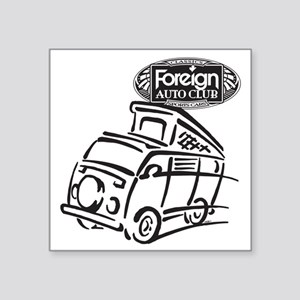 "Foreign Auto Club - German  Square Sticker 3"" x 3"""