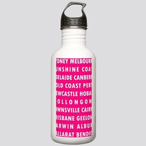 HPink AU Cities Stainless Water Bottle 1.0L