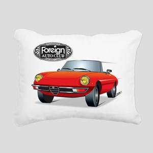 Foreign Auto Club - Red  Rectangular Canvas Pillow