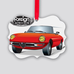 Foreign Auto Club - Red Italian 1 Picture Ornament