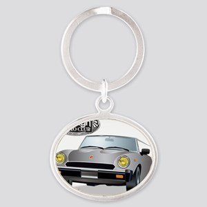 Foreign Auto Club -  Grey Italian Sp Oval Keychain