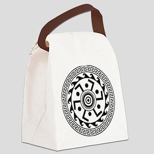 Greek Art - Decorative Circle Canvas Lunch Bag