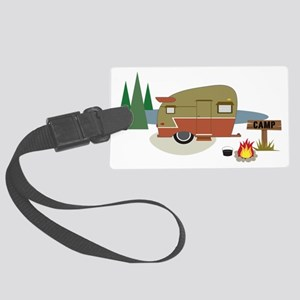 Camping Trailer Large Luggage Tag
