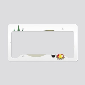 Camping Trailer License Plate Holder