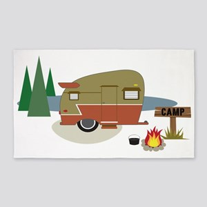 Camping Trailer 3'x5' Area Rug