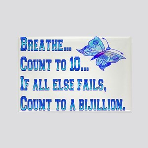 Breathe And Count Butterfly Rectangle Magnet