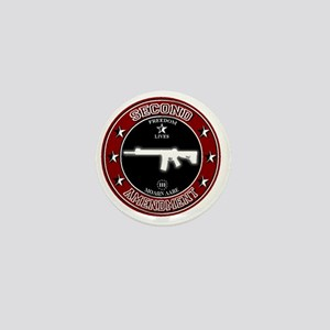Second Amendment - Burgundy/White Mini Button