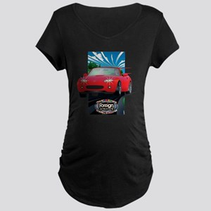 Foreign Auto Club - Framed  Maternity Dark T-Shirt