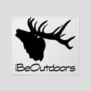 elk logo blk Throw Blanket