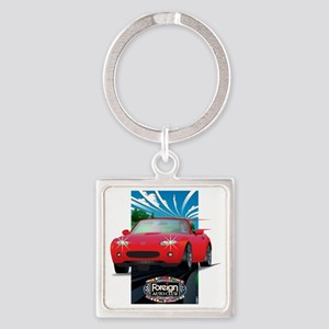 Foreign Auto Club - Framed Japanes Square Keychain