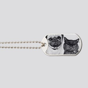 Pug and Cat Dog Tags