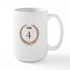 Napoleon gold number 4 Large Mug