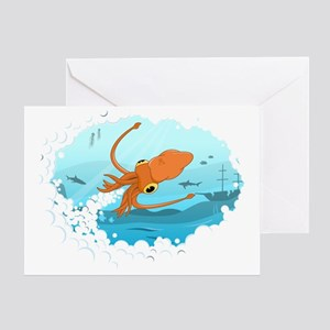 Squid Greeting Card
