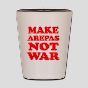 Make Arepas Not War Shot Glass
