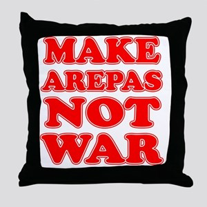 Make Arepas Not War Throw Pillow