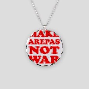 Make Arepas Not War Necklace Circle Charm