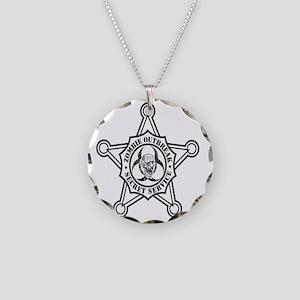 Zombie Secret Service Badge Necklace Circle Charm