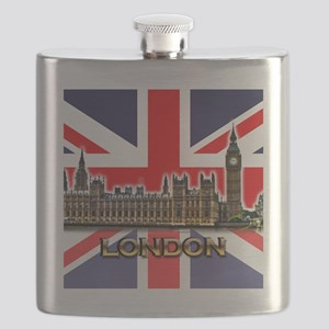 London - Union Jack Flask
