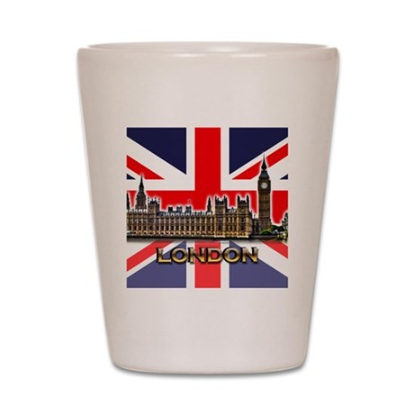 London - Union Jack Shot Glass