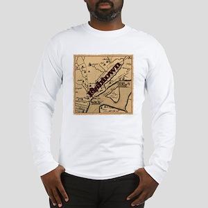 Philadelphia Fishtown map ca.1 Long Sleeve T-Shirt