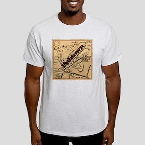Philadelphia Fishtown map ca.1752 Light T-Shirt