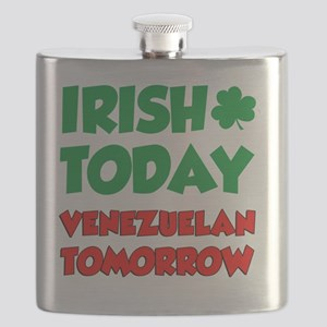 Irish Today Venezuelan Tomorrow Flask