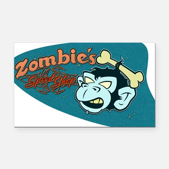 ZOMBIES SPEED SHOP Rectangle Car Magnet