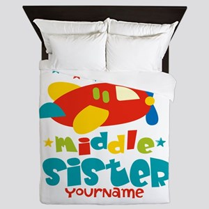 Middle Sister Plane - Personalized Queen Duvet