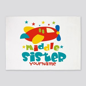 Middle Sister Plane - Personalized 5'x7'Area Rug